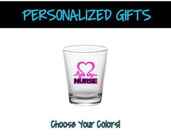 Lovely PG0019   Nurse Shot Glass   Barware Shot Glass   Customized Barware    Personalized Shot Glass