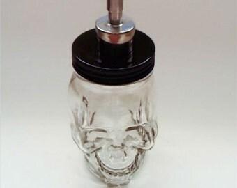 Glass Skull Soap Dispenser  Mason Jar Soap Dispenser