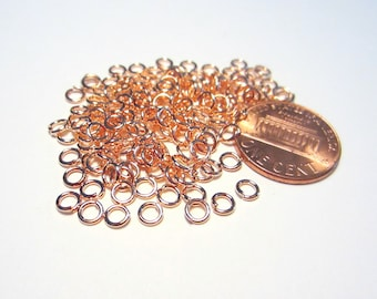 Rose Gold Open Jump Rings 4mm 20ga (No.541)