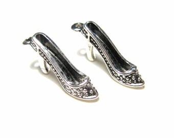 10pcs Antique Silver Shoe Charms Pendants 3D 23mm Craft  Supplies