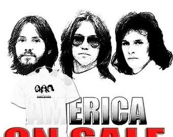 50% OFF Sale America Band T shirt Crosby Stills Nash & Young Cliff Richard DrawingsArAvailbl