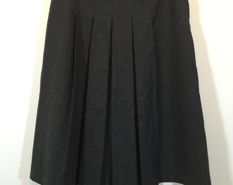 1960s classic pleated wool skirt Tuote Oy design made in Finland