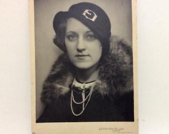 old photography studio portrait of a beautiful Swedish woman
