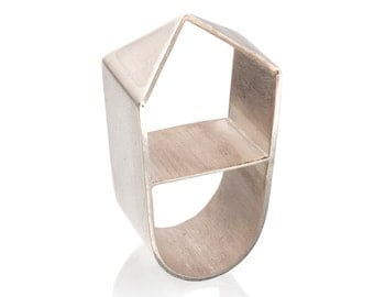 Silver House  Ring