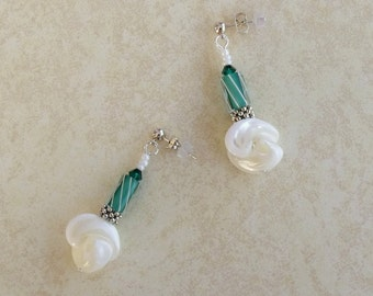 Green Twist Earrings, JEC-423