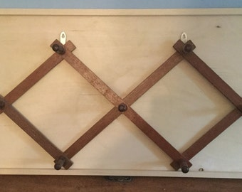 Vintage Expandable Wood Wall Rack