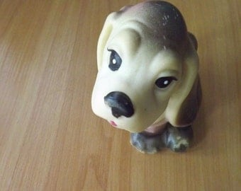 "Vintage soviet rubber toy ""dog"". Made in the USSR. RARE!"
