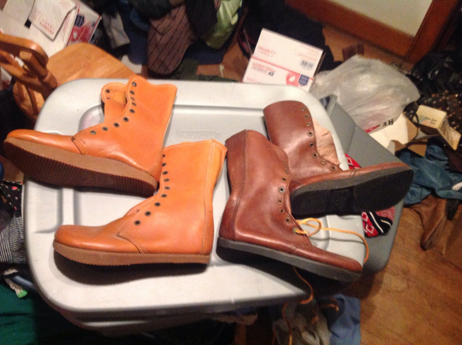 Vintage Deadstock Earth Shoes Boots Hippy Retro Anne Kalso