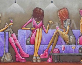 purple art girls night out