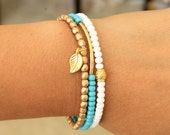 Stacking Bracelet Set. Summer Bracelet. Dainty Bracelet. Seed Bead Bracelet. Minimalist Bracelet