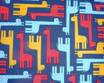 Fabric - Robert Kaufman- giraffes cotton print.