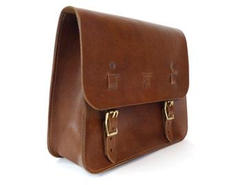 Leather Saddle Bag - Walnut