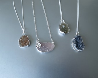 Sterling Drusy Necklaces
