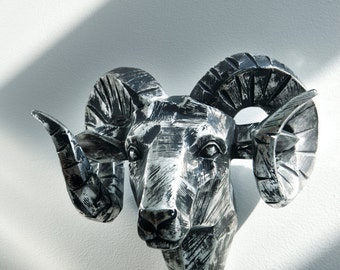 Interior Illusions Ram Head Chrome Taxidermy