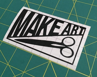 MAKE ART vinyl sticker