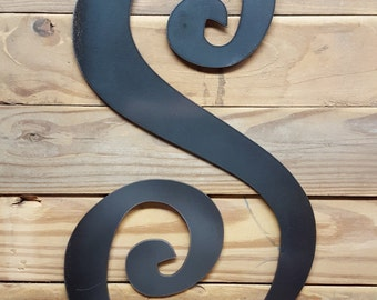 Curly letters.. Choose your letter and size