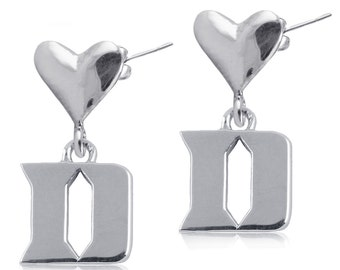 Duke Heart Post Earrings, Duke Jewelry
