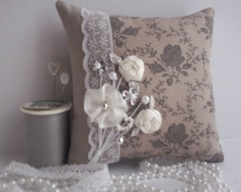 pincushion,pin cushion,pincushions,pin cushions,embroidered pincushion,ribbon and lace pincushion,manchester,mini pillow,ribbons and lace,