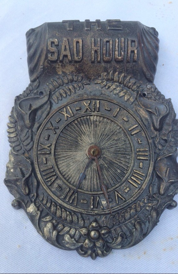"Reserved For Steve!                   Antique ""Sad Hour"" Funeral Clock"