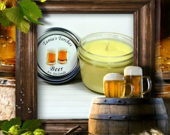 Beer Scented Candle, Gifts for Men, Fathers Day Gift, Funny Gifts