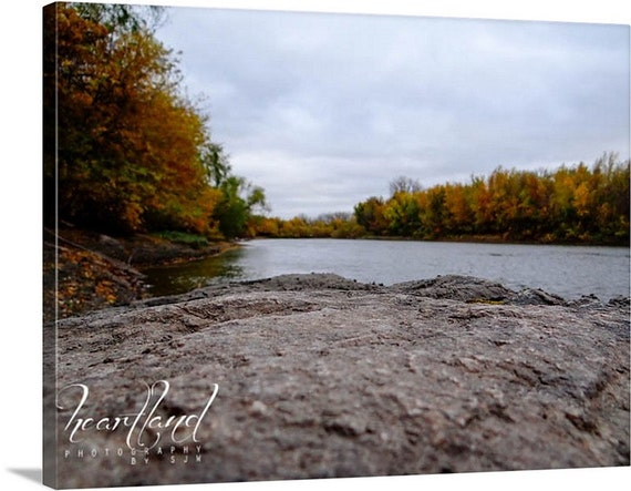 Large Wall Art, Minnesota Images, Unique Landscape, Fall Colors, Autumn Lake, Water Photo, Nature Photography, Extra Large Art, Big Canvas