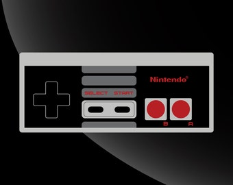 NES Controller Vinyl Decal Sticker 4 Color