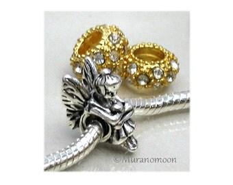 Fairy Charm Bead Fit Charm Bracelet Large Big Hole European Bead Crystal Birthstone Fairy Tale Fairy Charm Add A Bead Make Your Own #CB227
