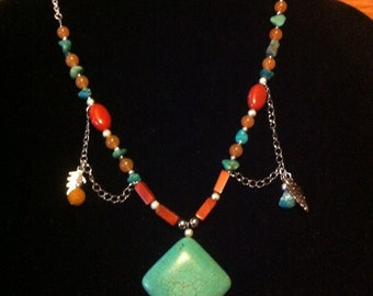 Beautiful one of a kind southwestern style necklace