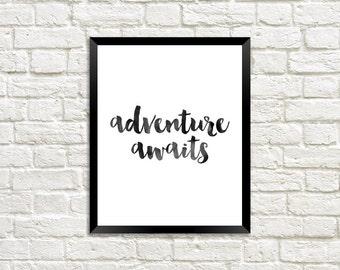 Adventure Awaits Digital Print