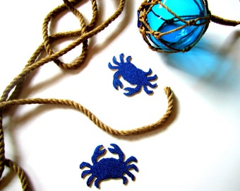 Glitter Crabs-Instagram prop- Gift tag- Nautical party decor- Nautical decoration- Blue crabs