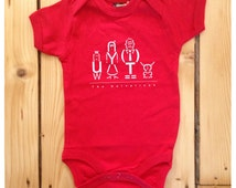 The Heleveticas Typographic Art Red Baby Grow / Bodysuit