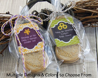 Rustic Bridal Shower Favors - Autumn Wedding Favors - Wedding Cookie Bags - Fall Party Favors - Personalized Wedding Favors - Set of 15