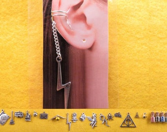 Wizard ear cuff and chain with the charm of your choice.