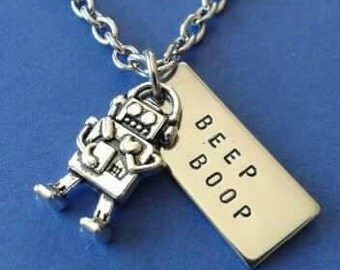 Itsy Bitsy Adorable Robot Necklace