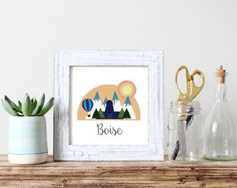 Boise City Print, Downloadable