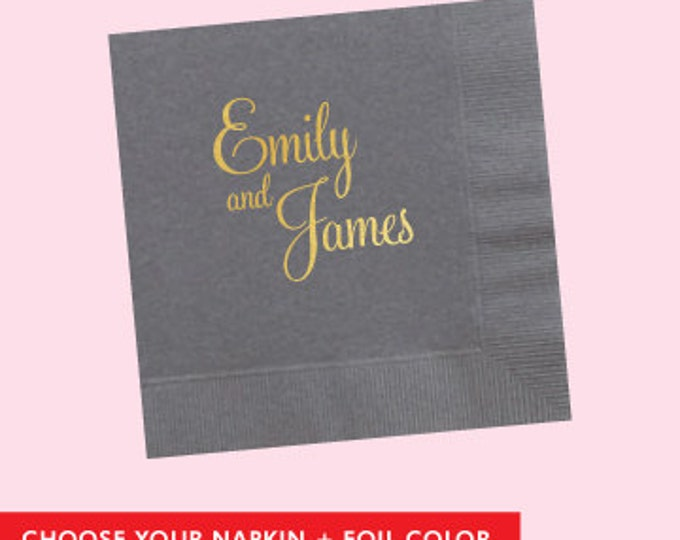 Custom Names Napkin  *no custom printing plate fee*