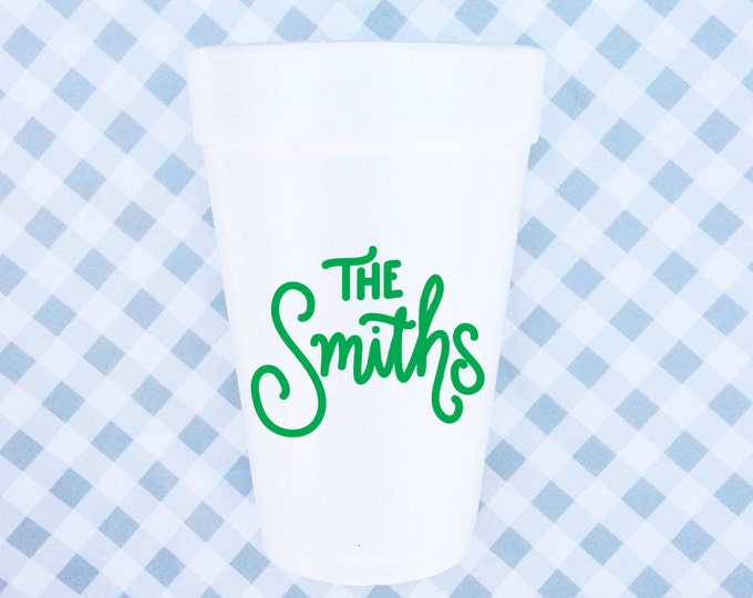 Custom Foam Cups - with Handlettering