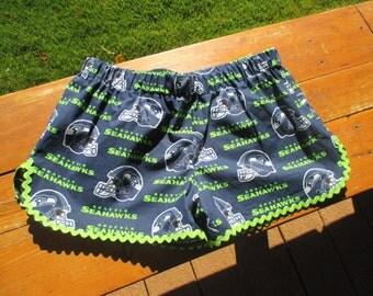 Seahawk shorts/ Seattle Seahawk shorts/Game shorts/Fun shorts/comfy shorts