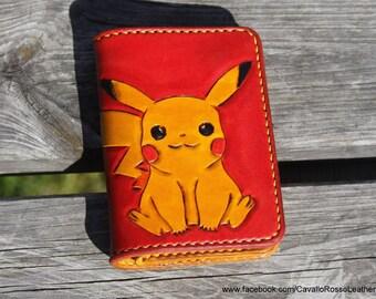 Pikachu Pokemon small wallet (leather wallet, pokemon, pikachu, raichu, pokemongo pokemon go, nintendo, game boy)