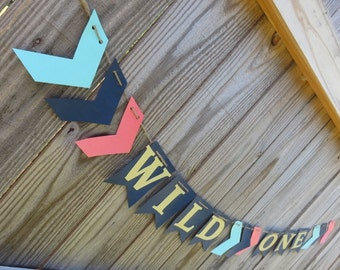 Wild One Banner, Arrow Banner, Teepee Party, Pow Wow Birthday, Pow Wow Banner, Wild One Party, Pow Wow Party, Teepee, 1st Birthday, Wild One