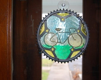 UpCYCLEd Chainring Inset Bike Suncatcher