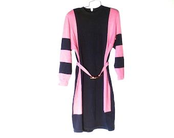 Vintage Long Sleeve Knit Dress