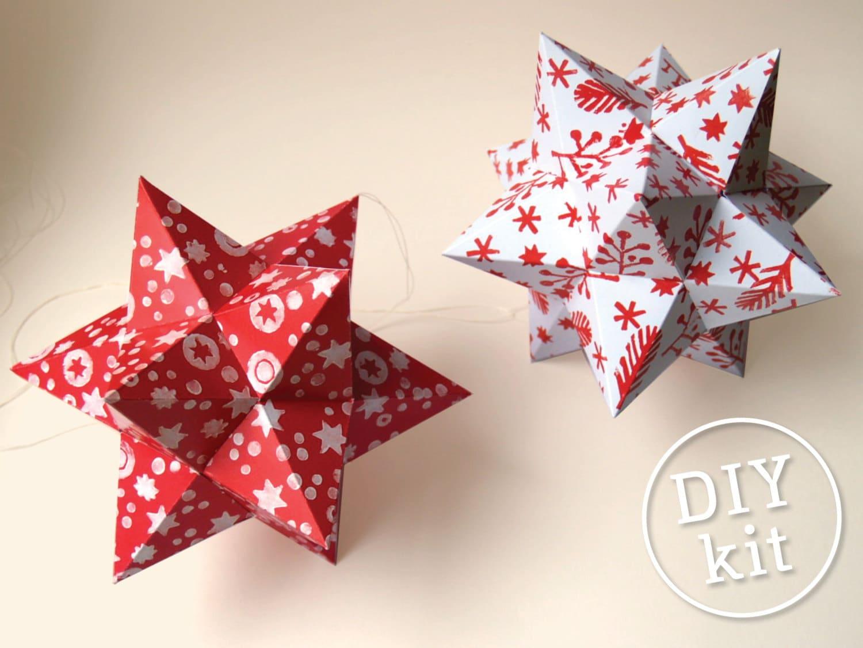 diy paper star christmas tree topper