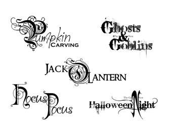 Halloween word art 3. Digital download