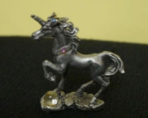 Pewter Unicorn; Figurine; Amulet; Trinket; Miniature; Approx. 2.5 x 2 Inches; Detailed !!!