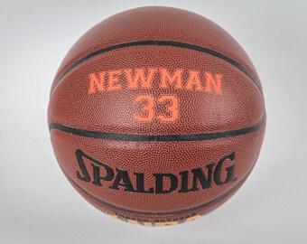 Personalized Basketball, Groomsmen Gift, Holiday Gift, Birthday Gift, Gift for Men, High School Basketball, Keepsake Basketball.