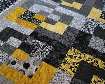 Twin size quilt, twin quilt, modern quilt, single quilt, throw quilt, lap quilt, modern twin quilt, modern single quilt, modern bed quilt