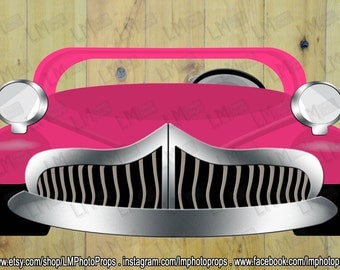Hot Pink GREASE inspired EXtra Large Car Photo Booth Prop, Grease Movie Props, Grease Car, Grease Party, DIY Instant Download PRINTABLE