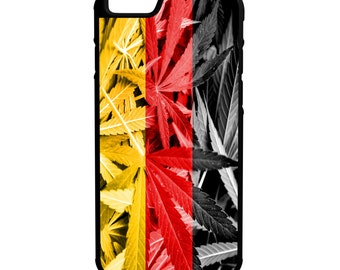German Weed Flag iPhone, Galaxy, Note, LG G4 Hybrid Rubber Protective Case