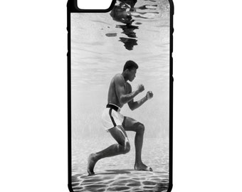 Muhammad Ali Under Water iPhone Galaxy Note LG HTC Protective Hybrid Rubber Hard Plastic Snap on Case Black